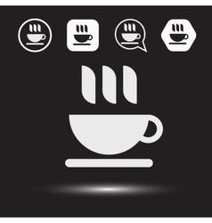 Mug of tea icon Morning coffee logo vector image