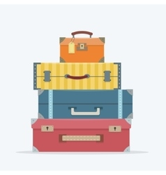 Baggage on background vector