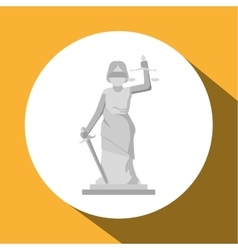 Law and justice sculpture design vector