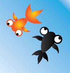 Goldfish orange and black vector
