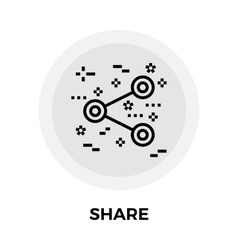 Share line icon vector