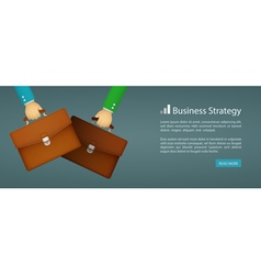 Flat style web banner business strategy vector