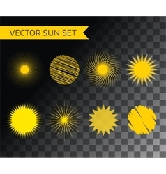 Abstract logo elements sun vocation vector