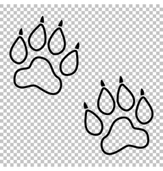 Animal tracks line icon vector