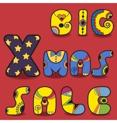 Big xmas sale card for retail vector