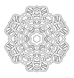Black and white silhouette of a snowflake lace vector