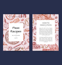 card or brochure template for pizza vector image