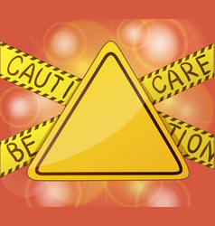 Caution warning yellow sign without text symbols vector
