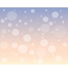 Christmas snowfall at dawn vector