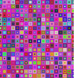 Colorful square tile mosaic background design vector image vector image