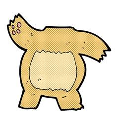Comic cartoon teddy bear body mix and match or add vector