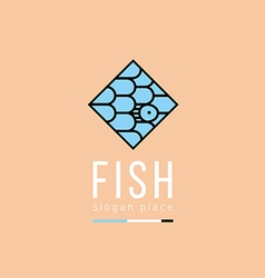 Creative logo pattern in the form of fish scales i vector