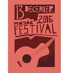 Event poster or flyer with acoustic guitar flyer vector image