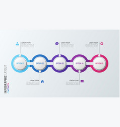 Fve steps infographic process chart 5 options vector
