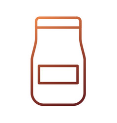 Glass jar with sauce product restaurant kitchen vector