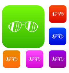 glasses set collection vector image