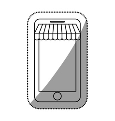 Isolated smartphone and ecommerce design vector