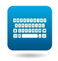 Keyboard icon flat style vector image vector image