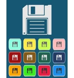 Magnetic floppy disc icon vector