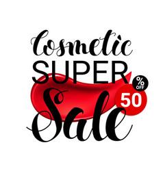 Makeup lipstick smear cosmetics sale concept vector