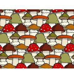mushroom seamless vector image