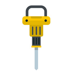 pneumatic hammer icon isolated vector image vector image