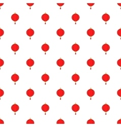 Red chinese lantern pattern cartoon style vector