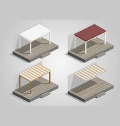 set of garden sheds vector image vector image
