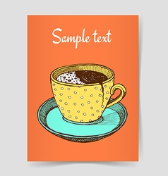 Sketch broken coffee cup vector image