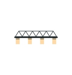 Truss bridge icon in flat style vector