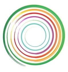 Watercolor circles rainbow vector