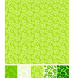 Collection of clover patterns for Saint Patrick vector image