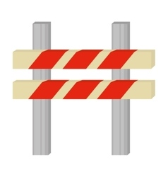 Barrier caution danger road sign vector