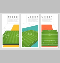 Set of Football field graphic background 1 vector image