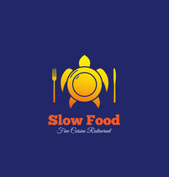 Slow food abstract sign emblem or logo vector