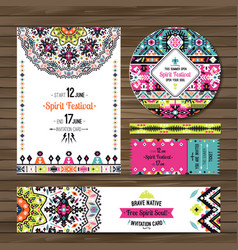 Collection of banners flyers or invitations with vector