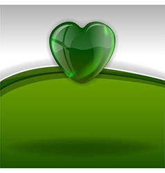Hearts background green white vector