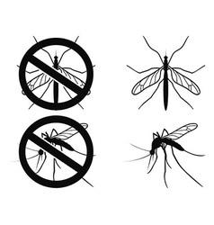 Mosquitoes warning symbol vector