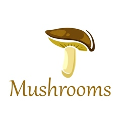 Forest mushroom on white vector