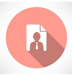 Resume icon vector