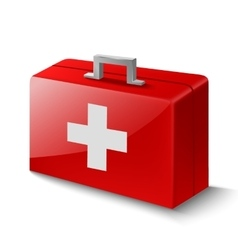 First aid box on white vector