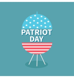 Bbq grill patriot day flat vector