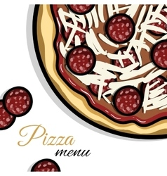 Menu for pizzeria vector
