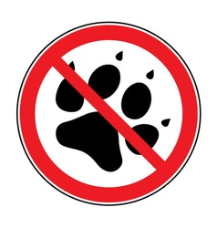 No pets sign vector
