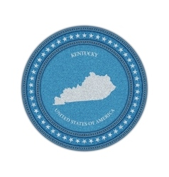 Label with map of kentucky denim style vector