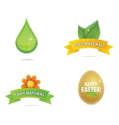 Green nature and magic elegance symbols vector
