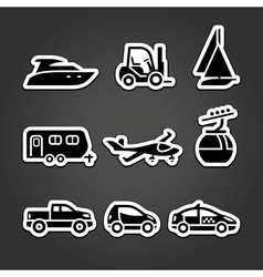 Set labels transport icons vector image