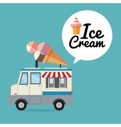 Delicius food Truck icon Delivery concept vector image