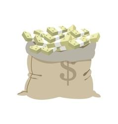 Open money bag icon vector