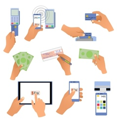 All for business payments human hands holding vector image